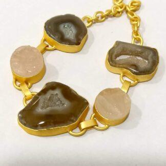 Flexible Pastel Stones Bracelet with Adjustable Chain Main