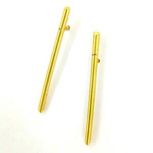 Goldplated Bar Minimalist Earrings Side 2