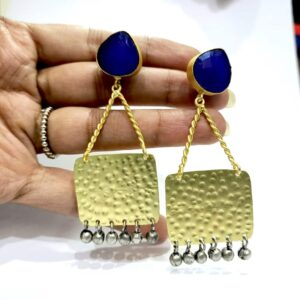 The Swing Danglers with Antique Finish Ghungroo Hand