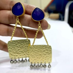 The Swing Danglers with Antique Finish Ghungroo Hand 1