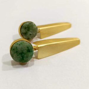 Green Druzy Aero-fold Earrings