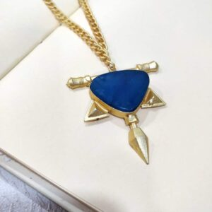 Warrier Spirit Necklace in Blue Agate