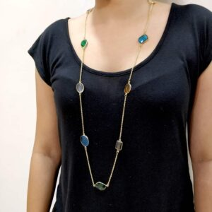 Multi-Color Candy Long Chain Necklace