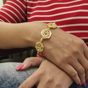 Handmade Nested Wire Texture Flexible Bracelet Hand