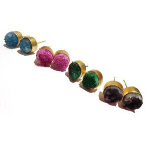 Sugar Crush Daily Fashion Stud Earrings (Set of 4)