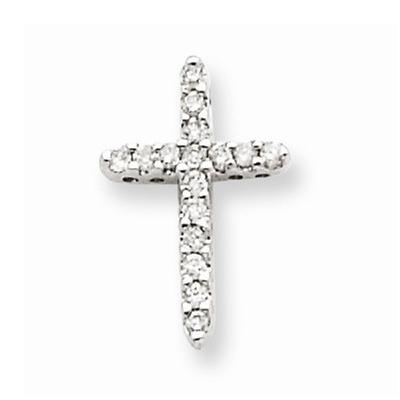 14K-White-Gold-Diamond-Cross-Pendant