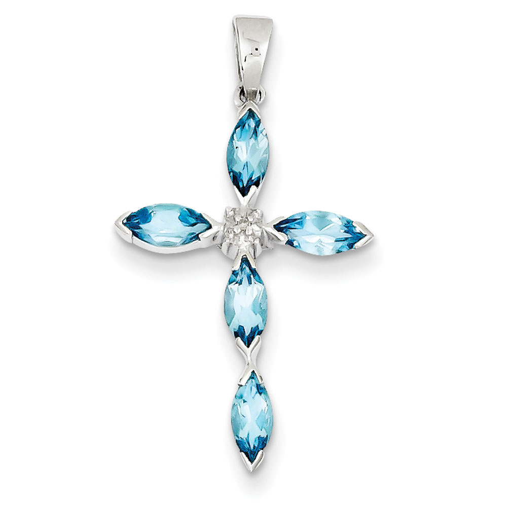 Blue-Topaz-and-Diamond-Cross-Pendant