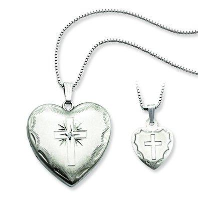 Sterling-Silver-Diamond-Cross-Heart-Locket