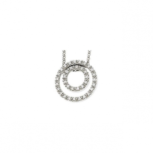 14kt White 1/4 CTW Diamond 18″ Necklace