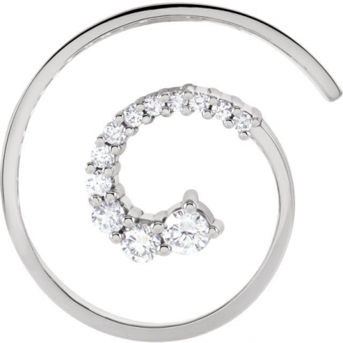 1/2 CTW Journey Diamond Pendant