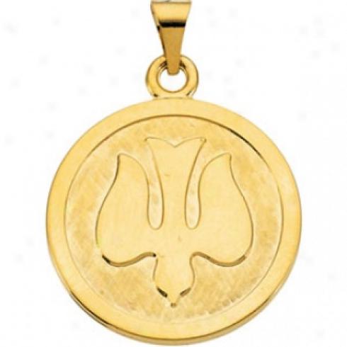 14k Yellow Gold Holy Sprit Pendant
