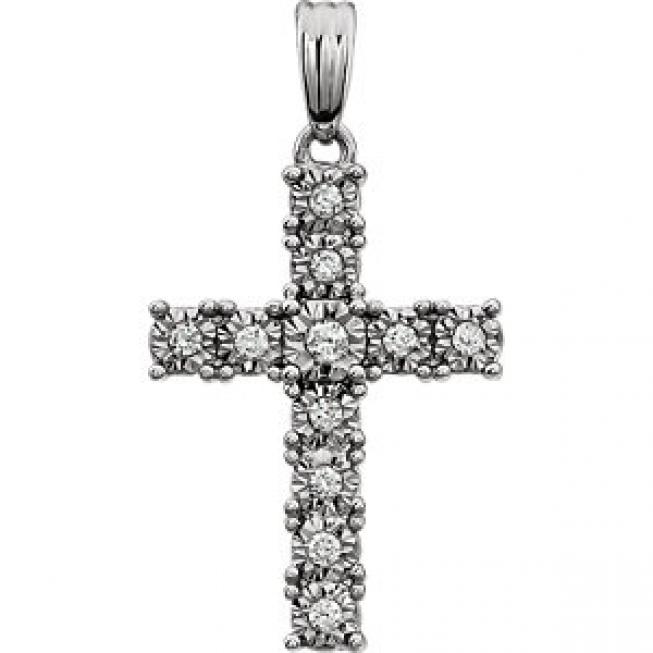 Diamond Cross Pendant 2