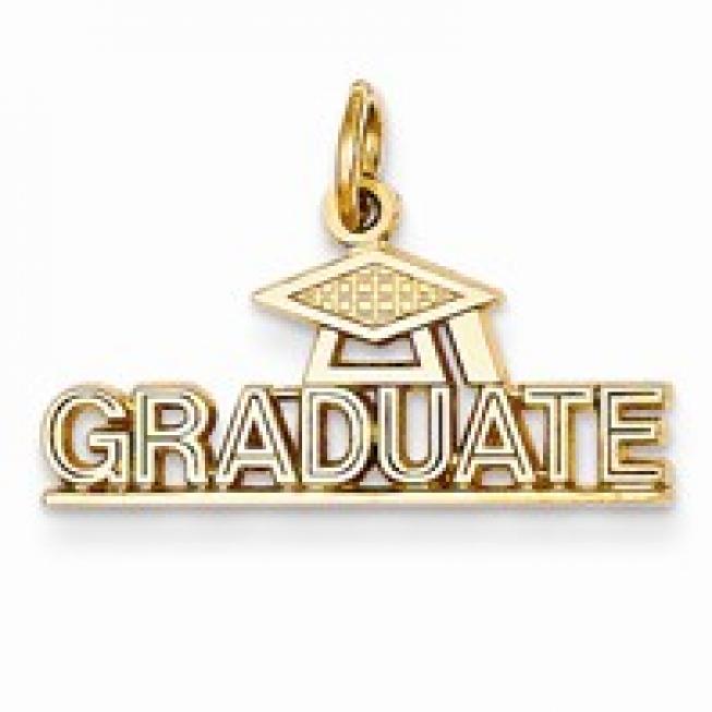 Graduate Gold Pendant