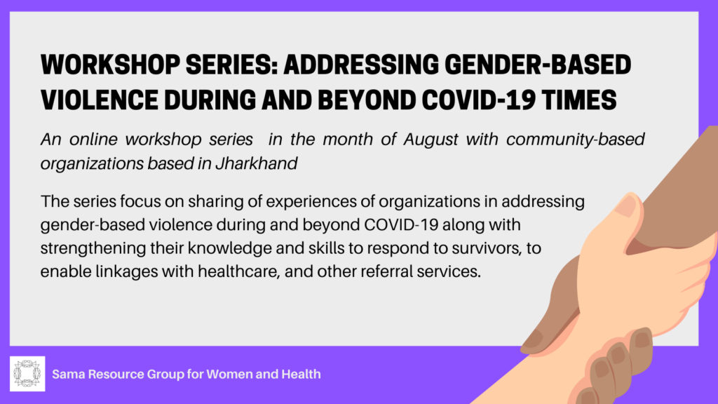Flyer of workshop series on GBV during and beyond Covid