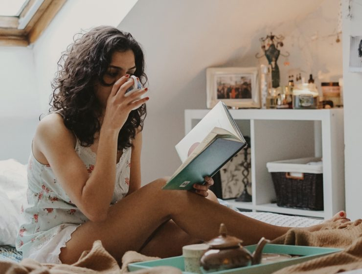 """Woman reading a book """"Change your Space"""""""