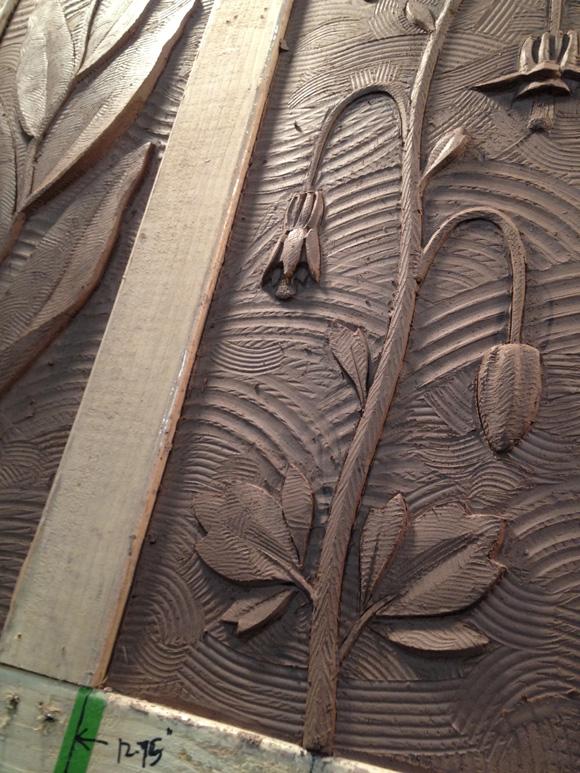 Clay carvings for Santiam Memorial Hospital, Stayton, OR.