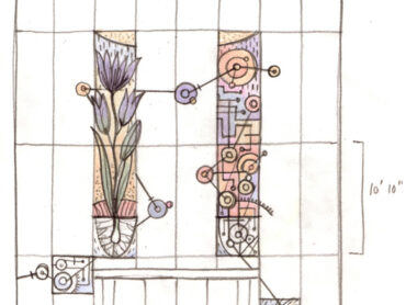 Sketches for Glass Mural at SPSCC