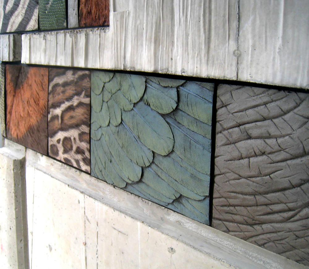carved terra cotta, slips and glazes