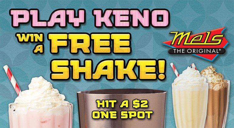 Play Keno & Win a FREE Shake