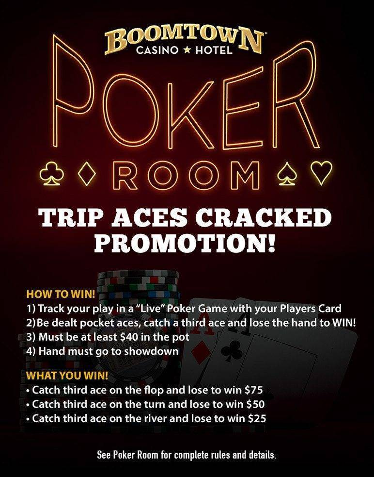 Boomtown Poker Triple Aces Cracked Promotion