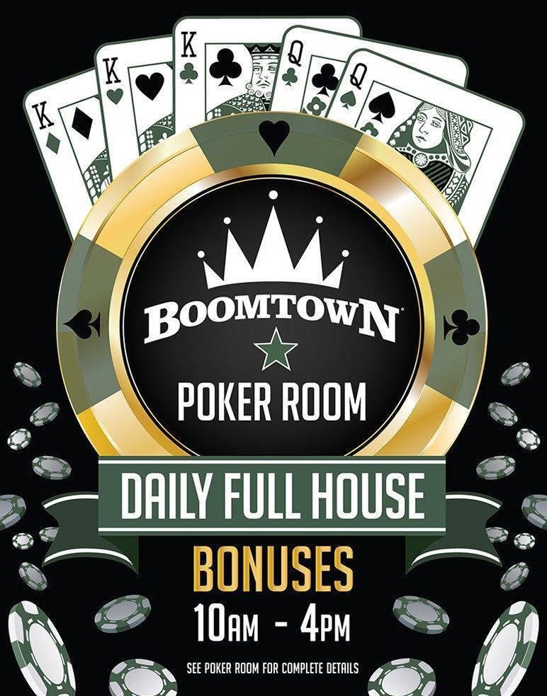 Boomtown Poker Daily Full House Bonuses