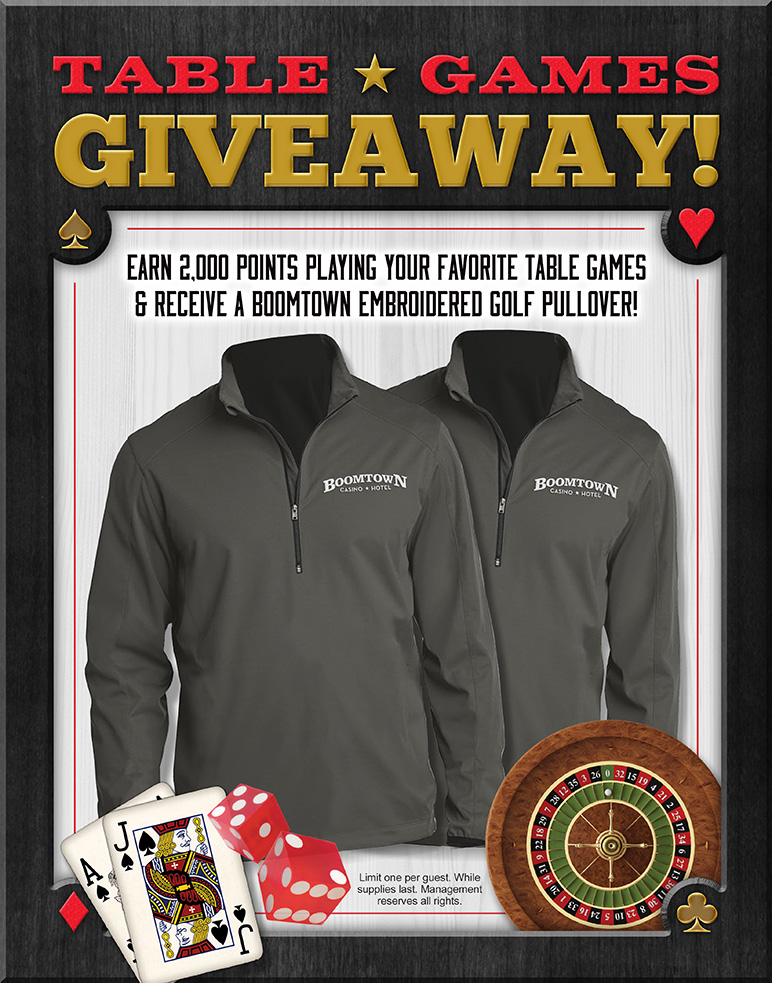 Table Games Giveaway Golf Pullover
