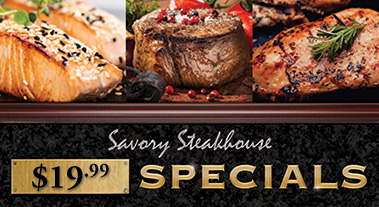 Boomtown Savory Steakhouse Specials