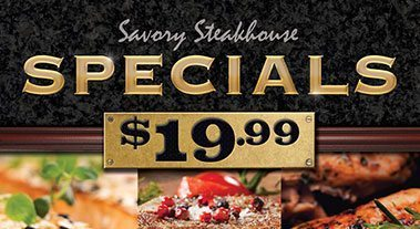 Boomtown Savory Steakhouse Specials