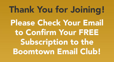 Boomtown Email Club Thank You
