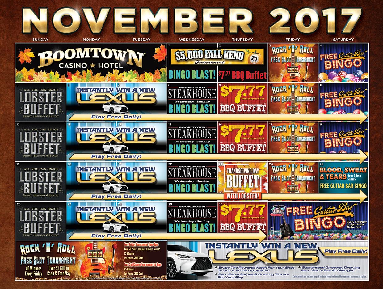 Boomtown November Calendar