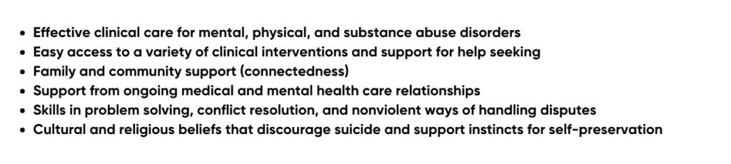 Protective factors list