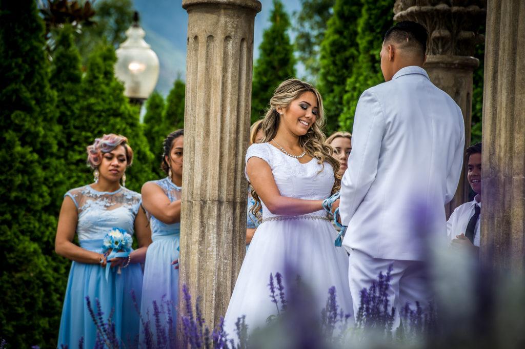exchanging vows Ryan hender photography le garden wedding venue sandy utah