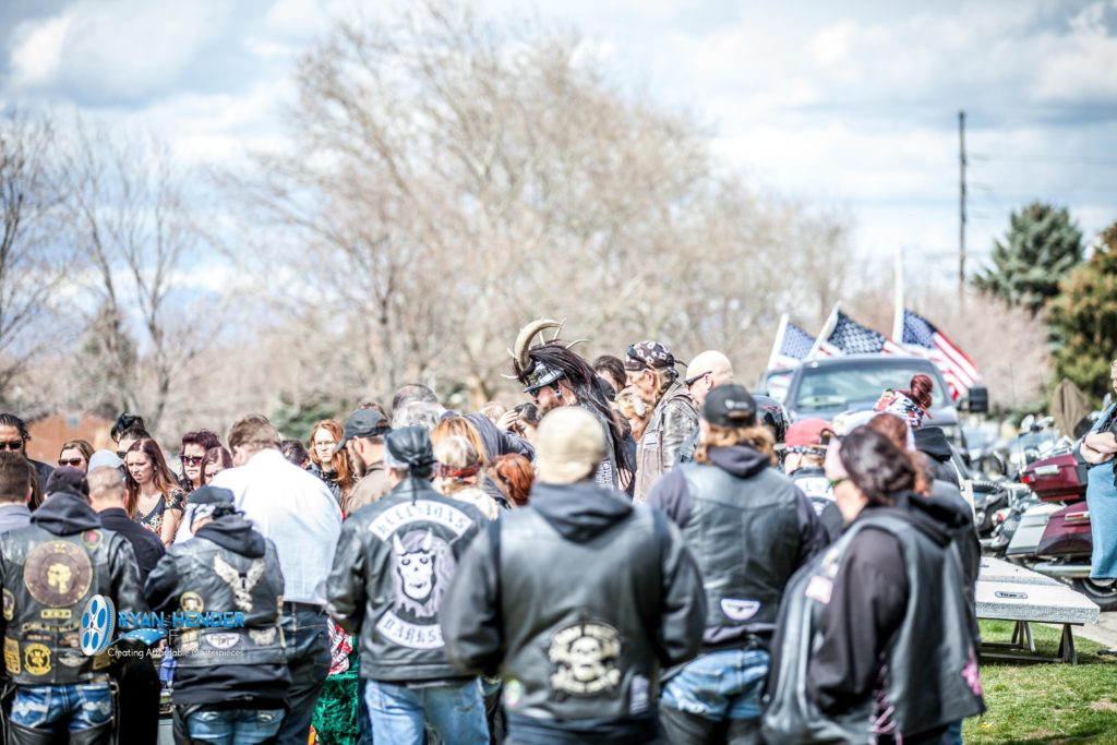 bikers join funeral funeral photography utah Ryan hender films