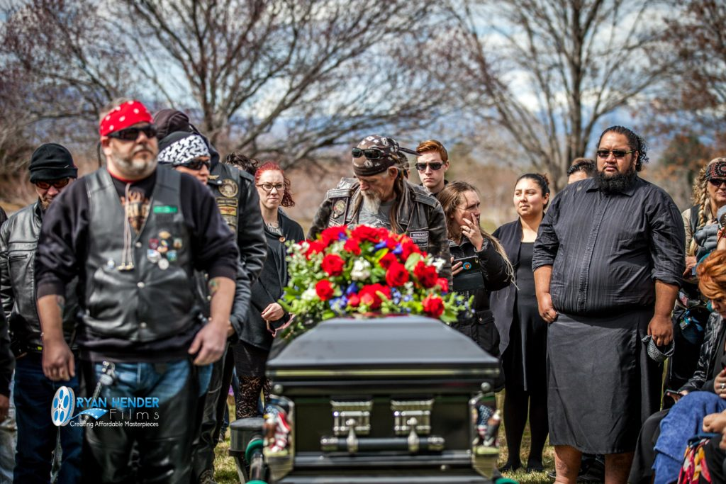 casket spray flower arrangement funeral photography utah Ryan hender films