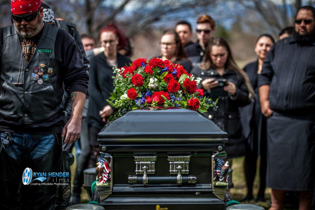 casket spray funeral photography utah Ryan hender films