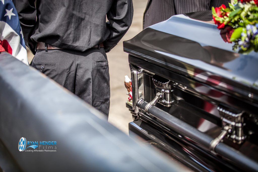 casket in truck funeral photography utah Ryan hender films