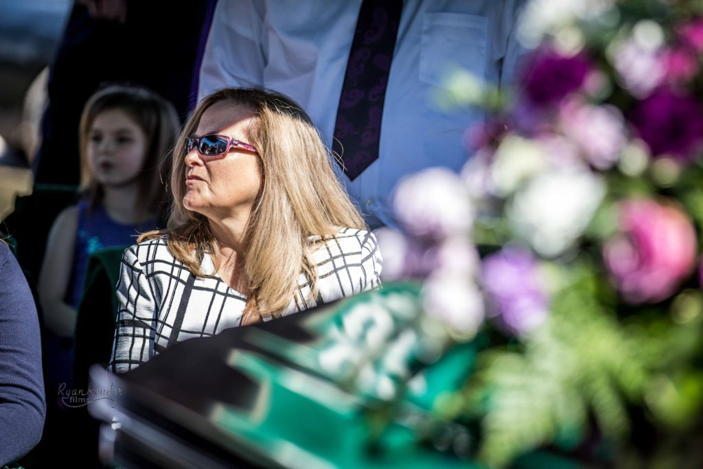 grieving mother Wasatch lawn salt lake city cemetery photography for funerals Ryan hender films