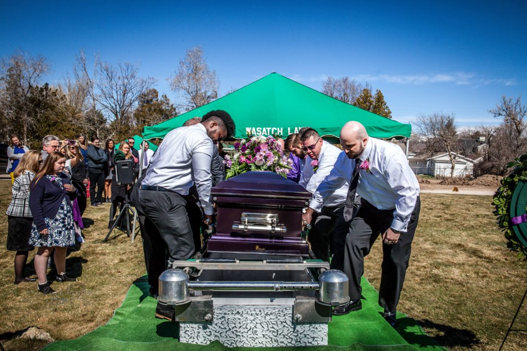carrying casket Wasatch lawn salt lake city cemetery photography for funerals Ryan hender films