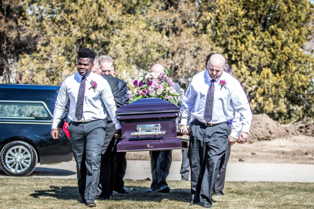 pall bearers Wasatch lawn salt lake city cemetery photography for funerals Ryan hender films