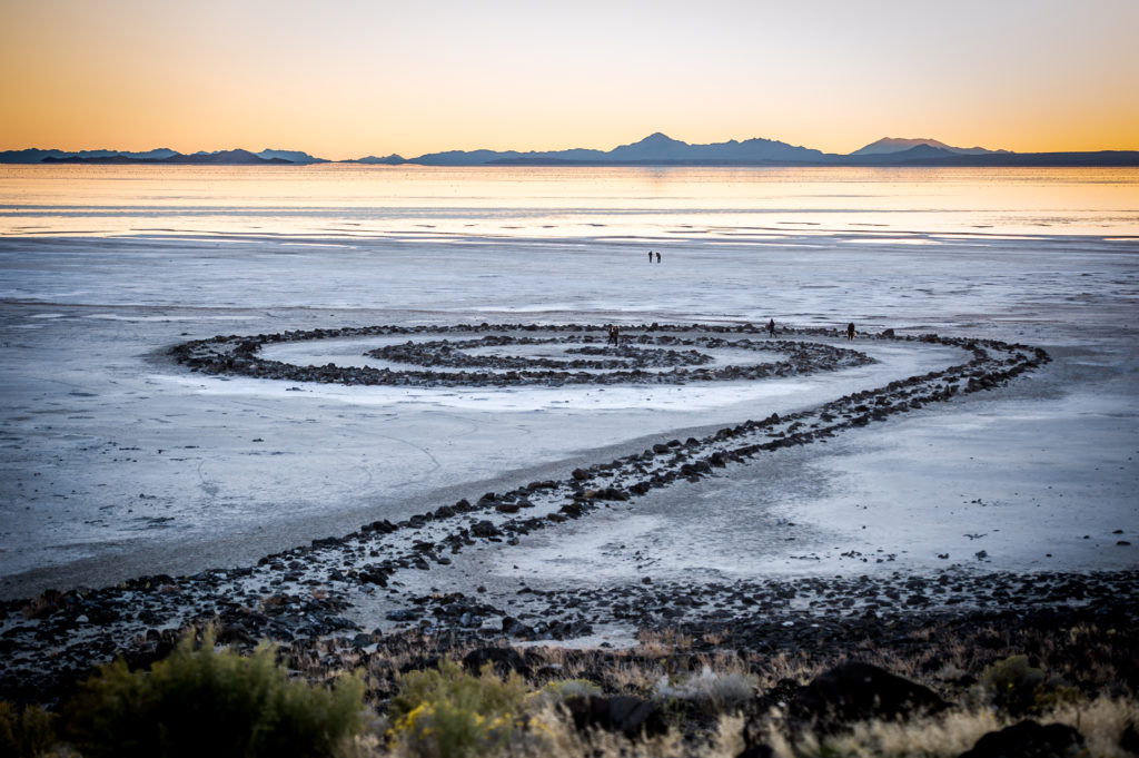 spiral jetty at the great salt lake photography utah