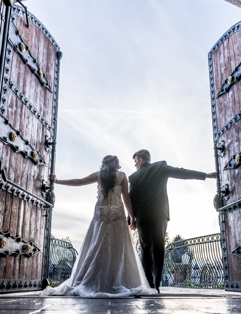 bride and groom castle wedding venue wadley farms utah wedding photography and videography