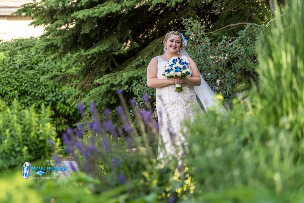 bride at heritage gardens sandy utah