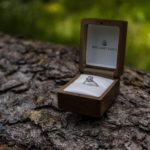 wedding ring on log wedding photography draper utah temple