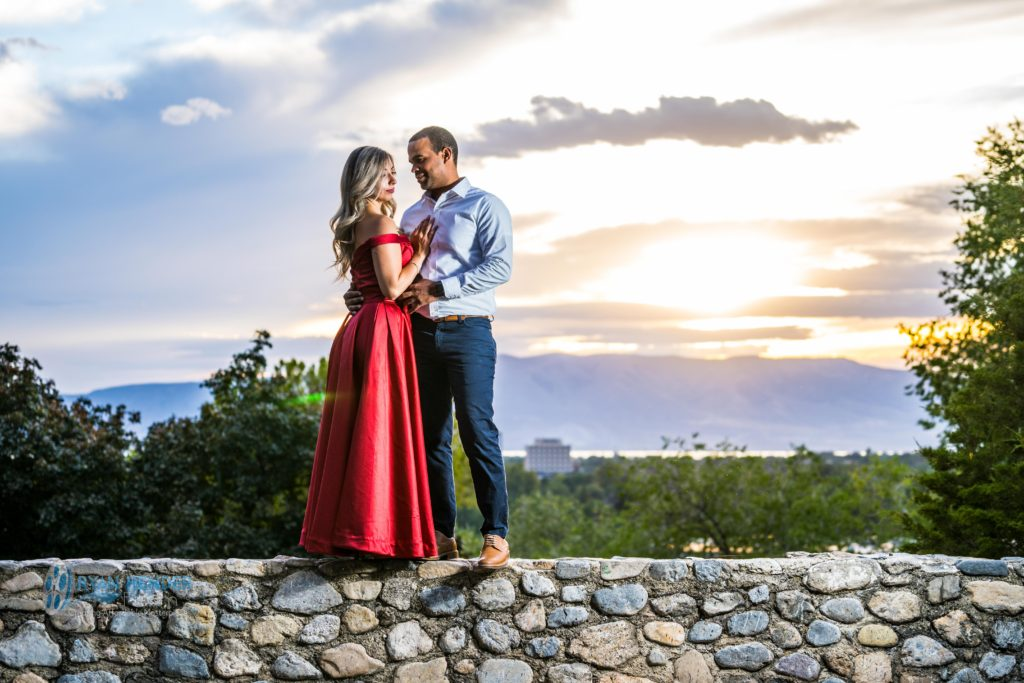 wedding engagement photography utah state hospital