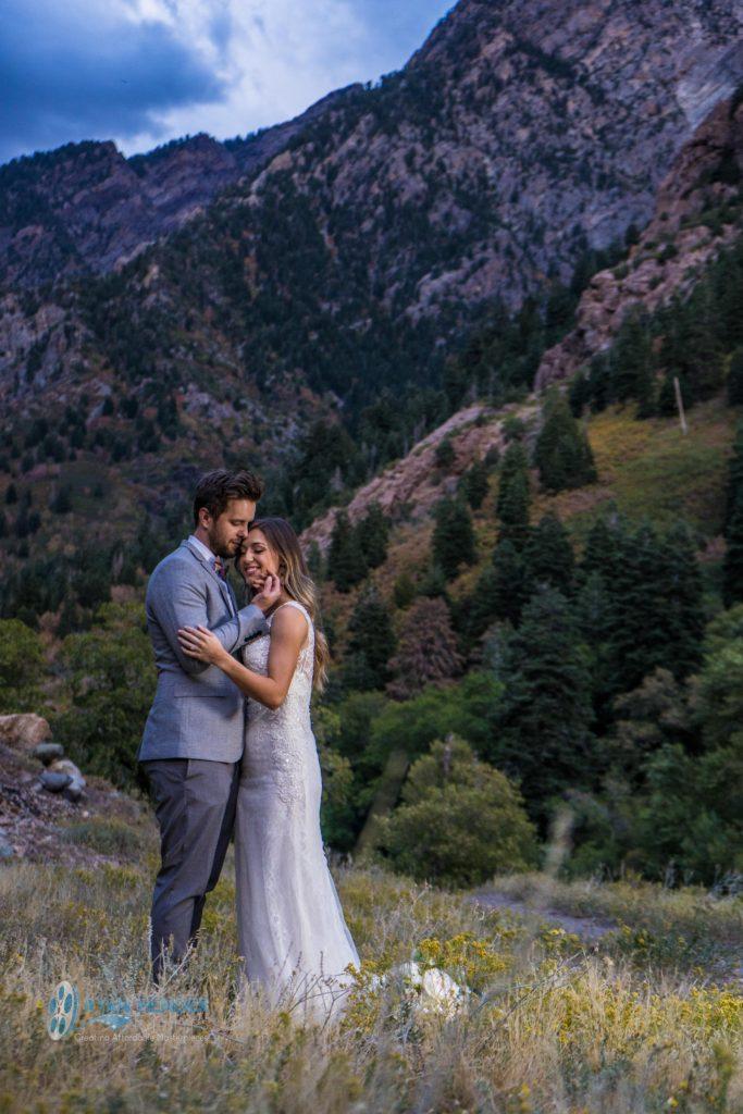 fall colors bridal photo shoot big cottonwood canyon
