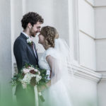 bride and groom photo shoot after wedding Denver Colorado temple