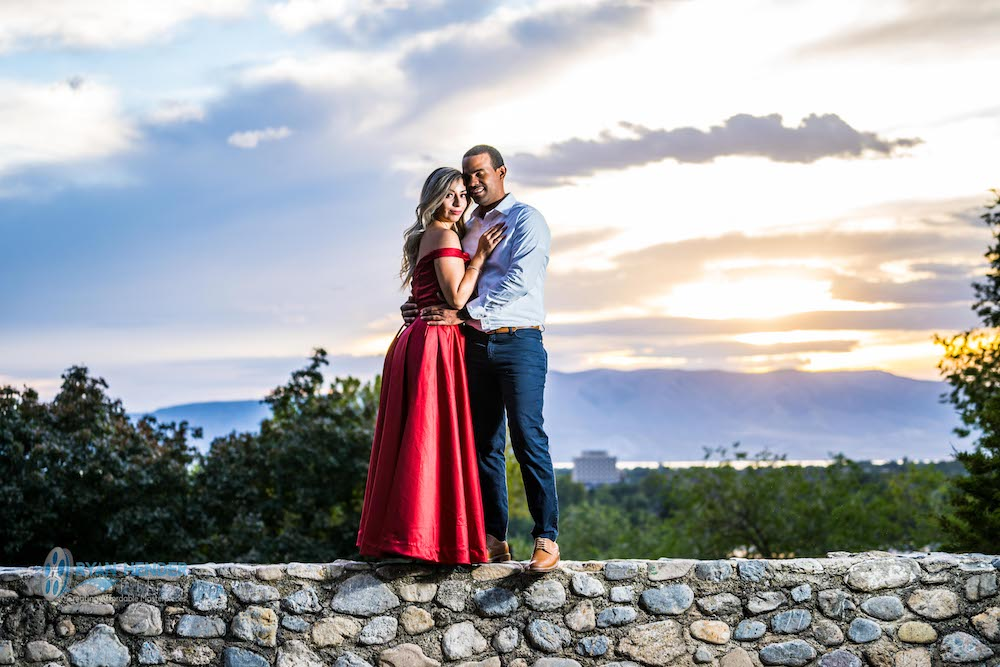 bride and groom engagement photography provo utah