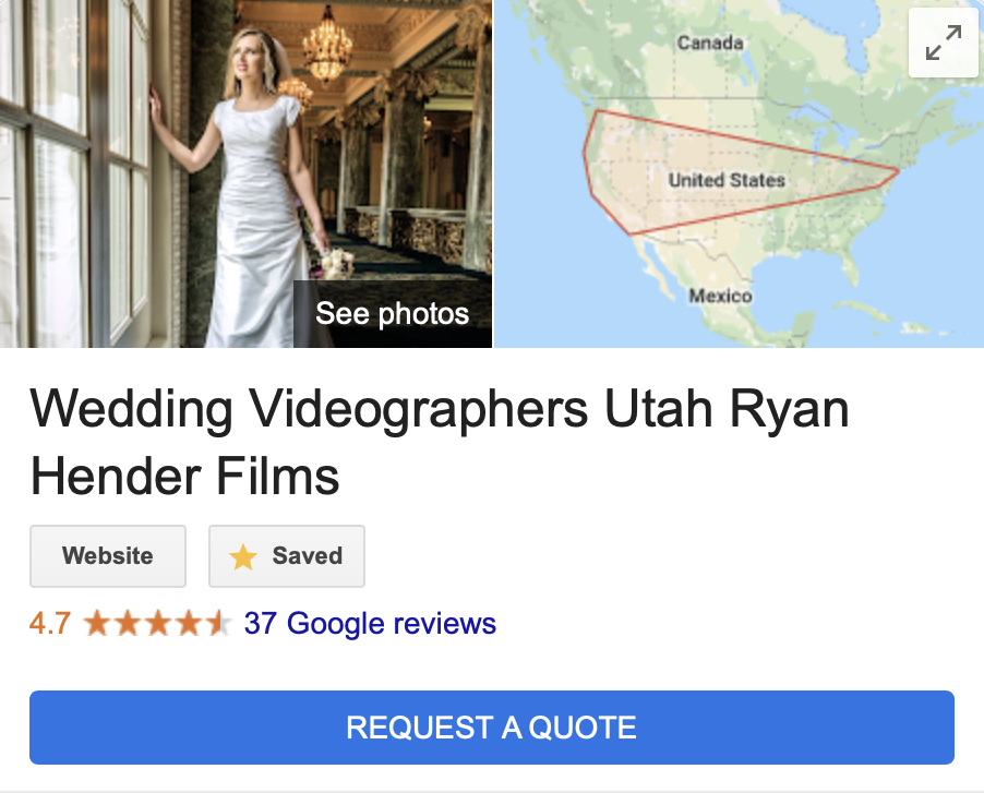 WEDDING VIDEOGRAPHY UTAH QUOTE