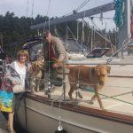 Lucy choosing where to disembark