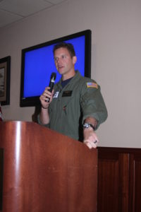 Guest Speaker Aviation Survival Technician Andrew Johnston of the COast Guard